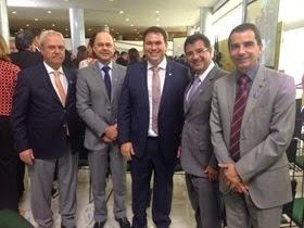 Beto Rosado com Zeca Melo, Eduardo Viana, José Vieira e José Hélio, do SEBRAE
