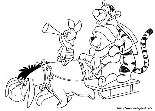 Dibujos para colorear de oso pooh y sus amigos pintar al - Winnie dessin ...
