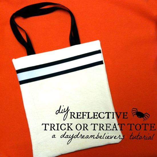 make your own reflective trick or treat bag easy diy tutorial from daydream believers designs