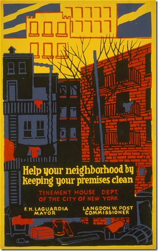 Help your neighborhood by keeping your premises clean : Tenement House Dept. of the City of New York