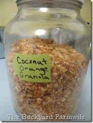 Coconut Orange Granola - The Backyard Farmwife