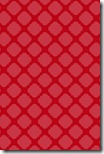 iPhone Wallpaper - Berry Red Quatrefoil - Sprik Space