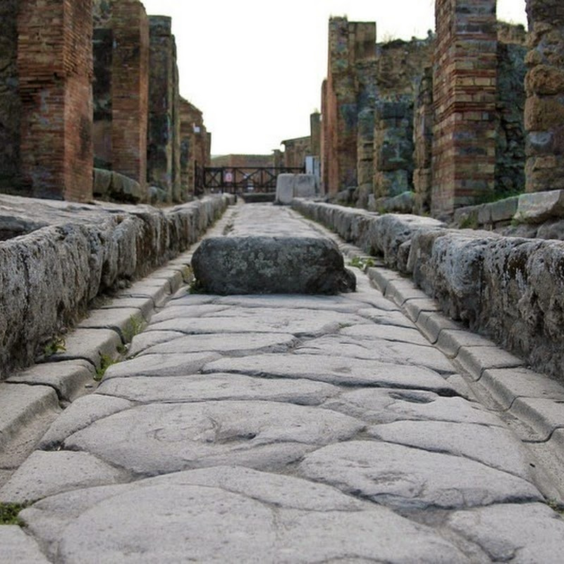 Chariot Tracks on The Streets of Pompeii
