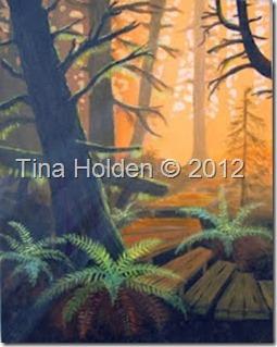 Tina acrylic painting
