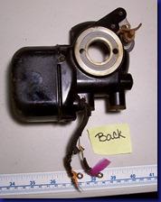Motor removed - back