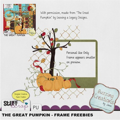 Leaving a Legacy Designs - The Great Pumpkin - Frame Freebie Preview