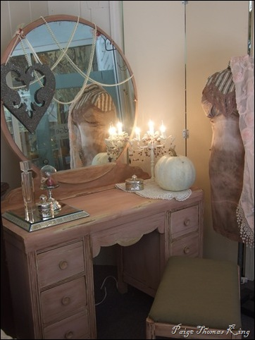 pink vanity for Breast Cancer Awareness month