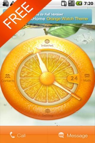 Orange Watch Free MXHome Theme