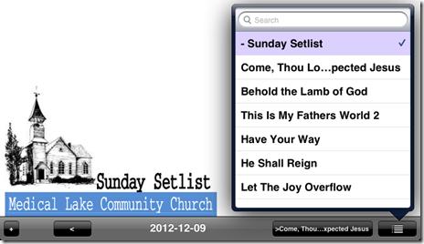 setlist 2012-12-09 unrealBook