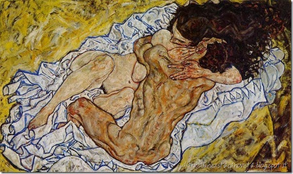 the embrace egon schiele 1917