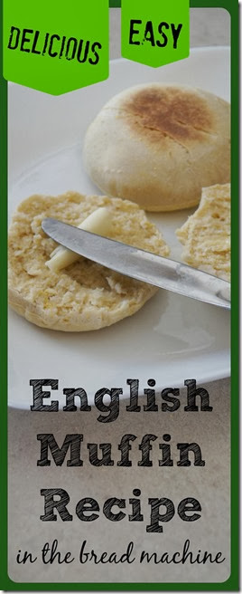 Easy Bread Machine English Muffin Recipe - This yummy recipe is super easy and so much better than store bought english muffins. WONDERFUL bread machine recipe.
