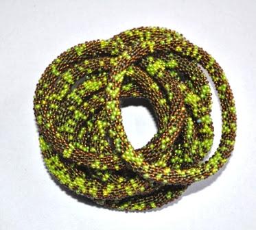 Glass Bead Rollover Bracelet