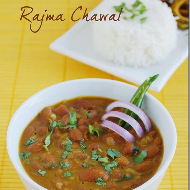 Rajma chawal / red kidney beans curry