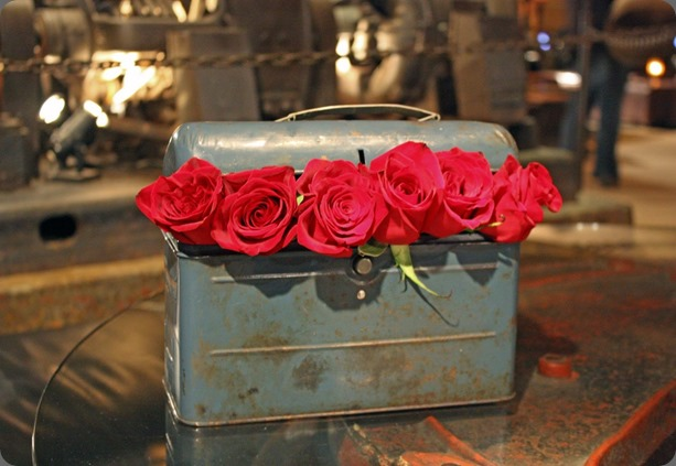 just roses storibook wedding - steampunk red roses wedding in metal box  heavenly blooms