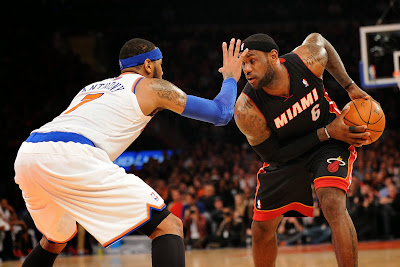 lebron james nba 140201 mia at nyk 02 LeBron Debuts Soldier 7 Shine PE as Heat Beat Knicks at MSG