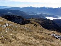 Pogled na planino Krstenica s Pokljuka in bohinjsko dolino v ozadju