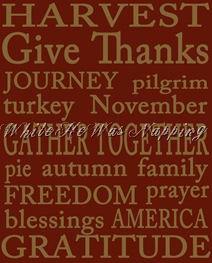 Red Thanksgiving Subway Art