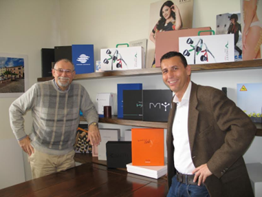 Remo Cattina, partner at Graficasette, and Alberto Brioni, sales manager for SevenMediaLab