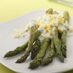 Roasted Asparagus Garlic Lemon Sauce