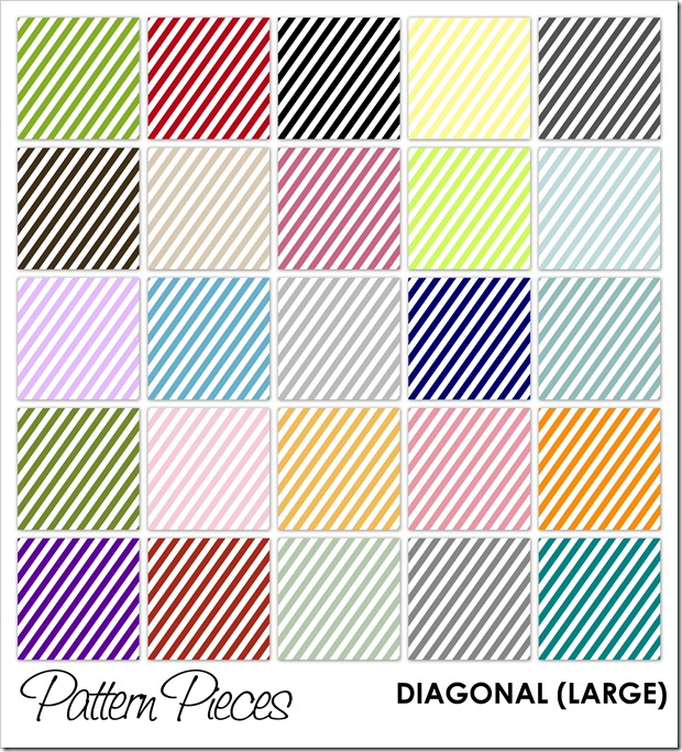 IMAGE - Pattern Pieces - Diagonal (Large)