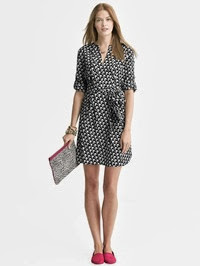 BR bird shirtdress