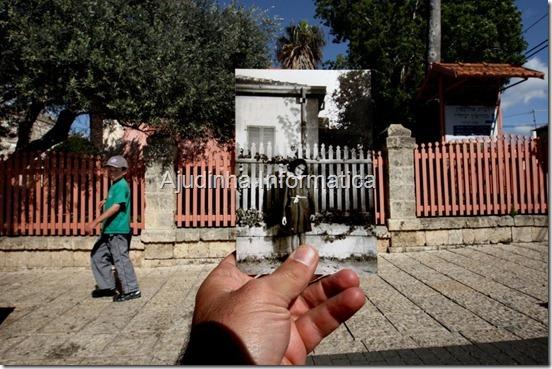 Uma série de fotos do arquivo definido contra os atuais cenários em Israel