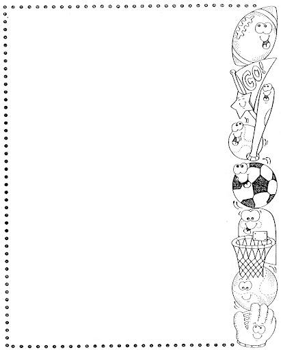 MARCOS Y BORDES INFANTILES PARA COLOREAR | Dibujos para colorear