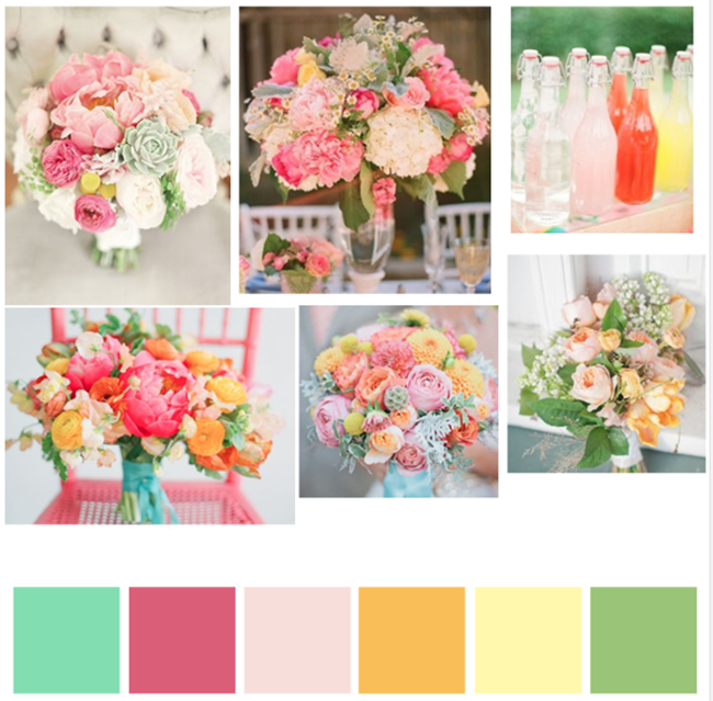 Bright, fresh wedding color inspiration