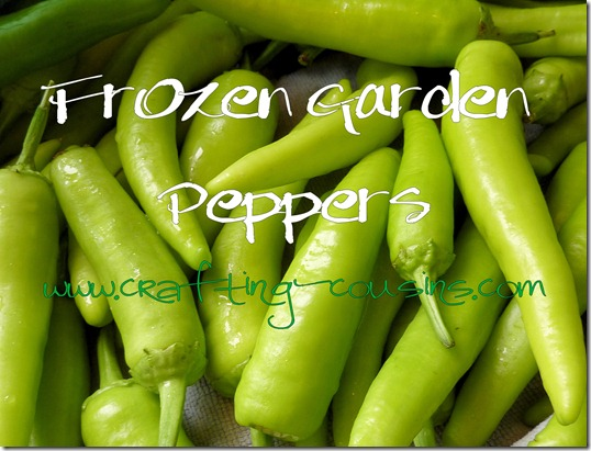 Prepare peppers for freezer storage
