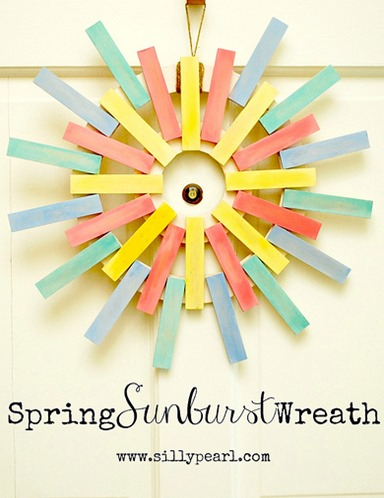 Spring Sunburst Wreath - The Silly Pearl