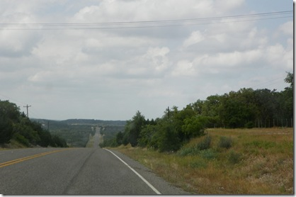 Entering the Texas Hill Country on US 173 at 2:40 pm May 1, 2012
