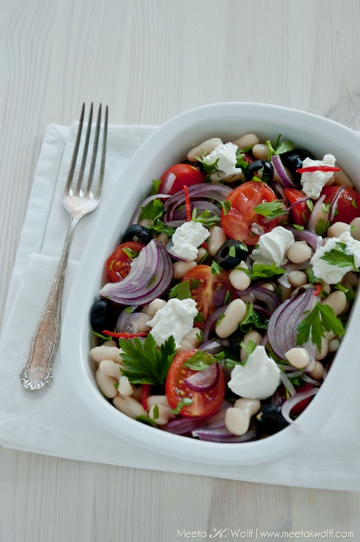 Cannellini Bean Salad with Olives and Ricotta (0090) by Meeta K. Wolff