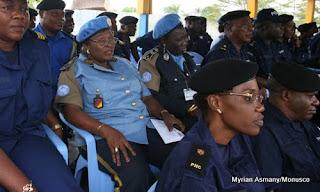 – Eléments de la police nationale congolaise et de la Monusco, lors d'une rencontre. (archives)