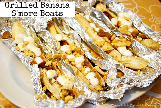 Grilled Banana Smore Boats