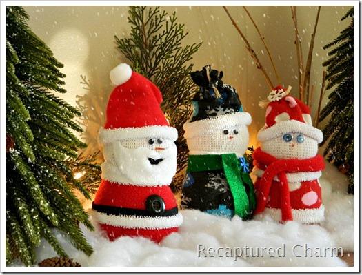 Sock Snowman Sock Santa 016b