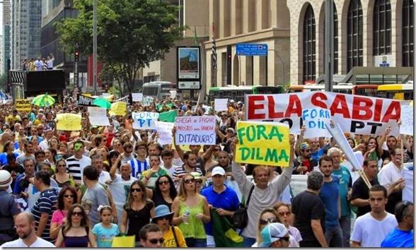 Protesto pelo Impeachment da Dilma