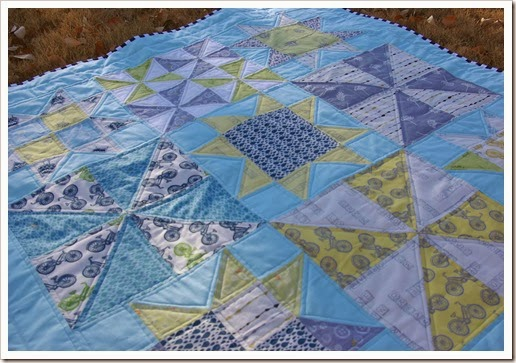 Pinwheels and Stars Baby Quilt