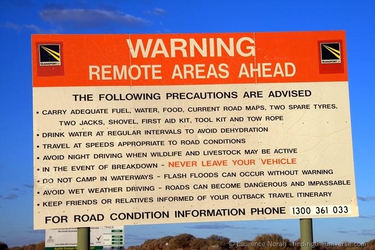 Warnschild - Südaustralien - Australien