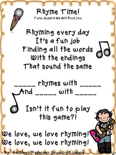 rhyme time song