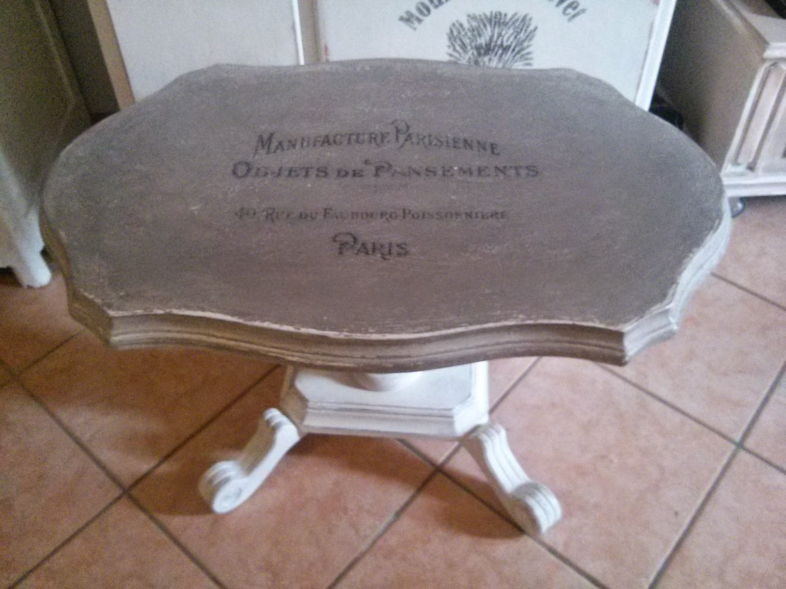 Pennellate Artistiche: Tavolino da the Shabby chic/ tea table shabby ...