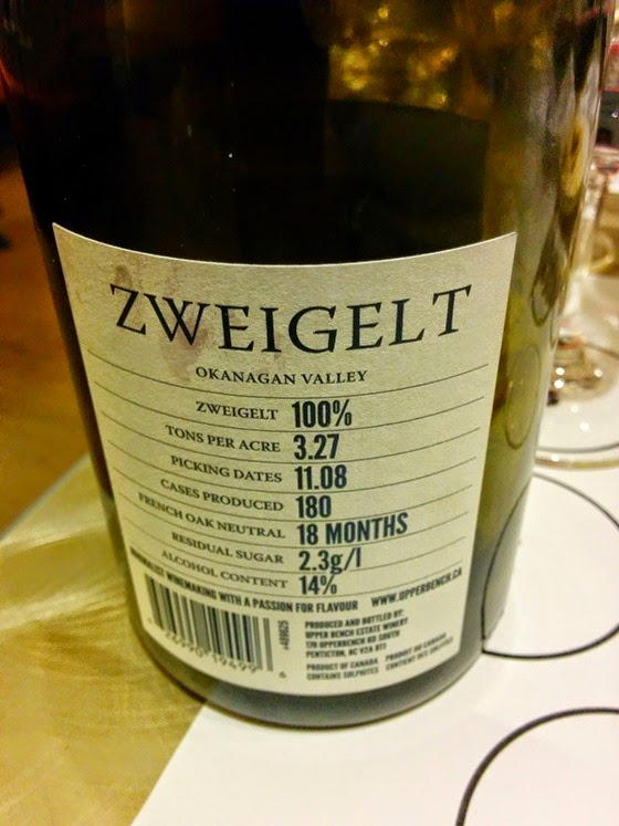 Upper Bench Zweigelt shows new, informative label