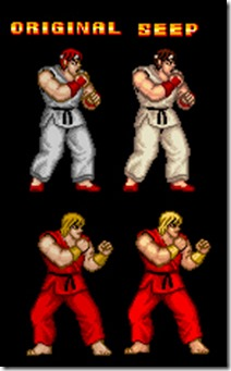 Immagine dimostrativa del cambio di palette dei personaggi