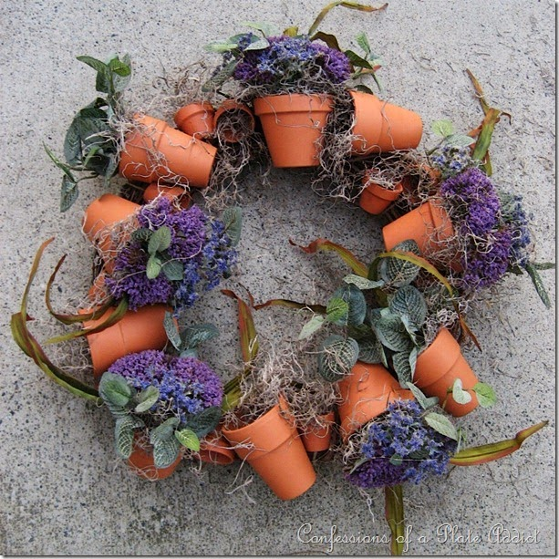 CONFESSIONS OF A PLATE ADDICT Flower Pot Wreath