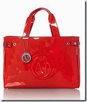 Armani Jeans Red Patent Tote