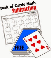 deck of cards math - subtraction
