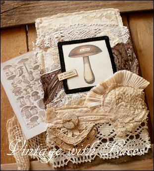 Fabric Collage - Mushroom