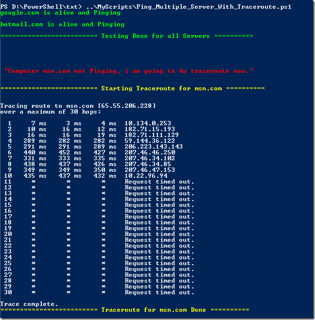 new delhi powershell user group test connectivity of