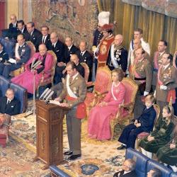 Proclamación de la monarquía de D Juan Carlos I en noviembre de 1975