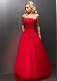 gaun merah