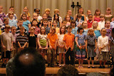 Kai's 3rd grade recorder concert (Kai is in the front row, right next to the microphone stand)